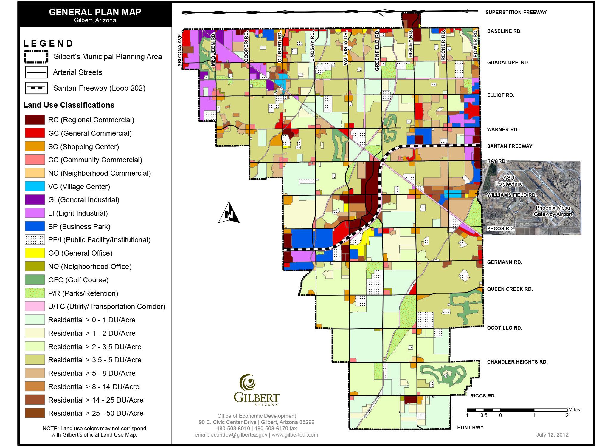 Map Of Arizona Gilbert.Gilbert Maps Gilbert Arizona Economic Development
