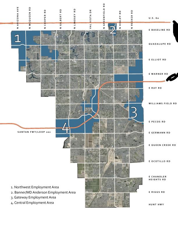 Gilbert Employment Areas